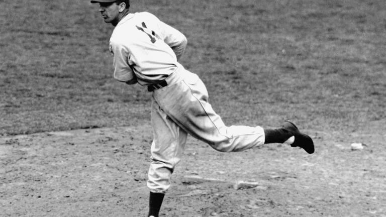1934: Carl Hubbell mows down the American League