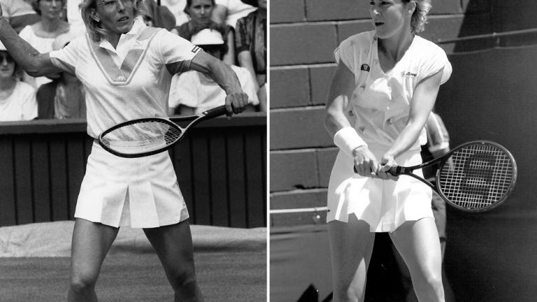 1984: Martina Navratilova def. Chris Evert 7-6, 6-2.