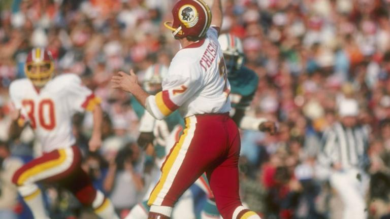 24. Theismann saves 'Skins' skin