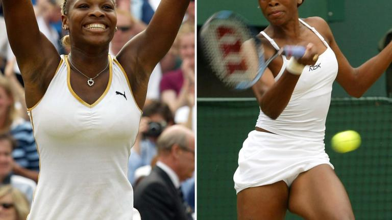 2002: Serena Williams def. Venus Williams 7-6 (4), 6-3