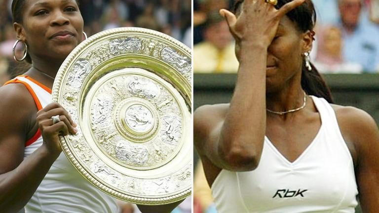 2003: Serena Williams def. Venus Williams 4-6, 6-4, 6-2.