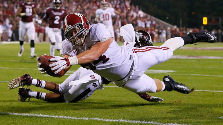 (1) Alabama 20, Mississippi St. 7