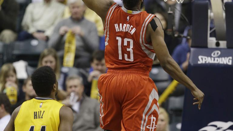 James Harden's 44 points leads Rockets past Pacers