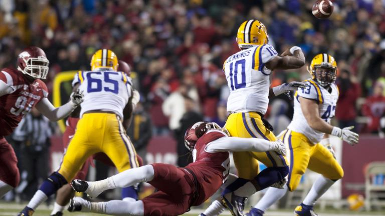 Arkansas 17, (17) LSU 0