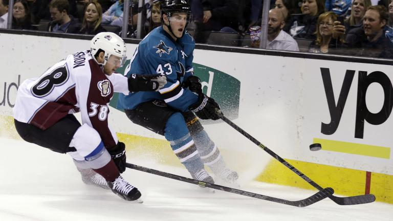Sharks 5, Avalanche 1