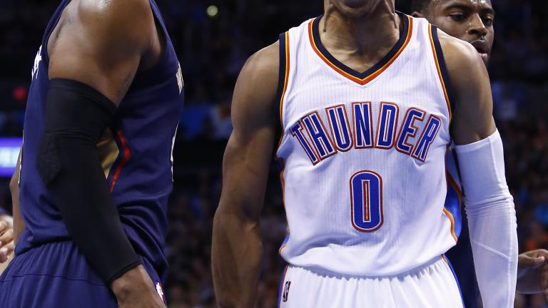 Russell Westbrook scores 45+ in two straight, 40+ in three of four