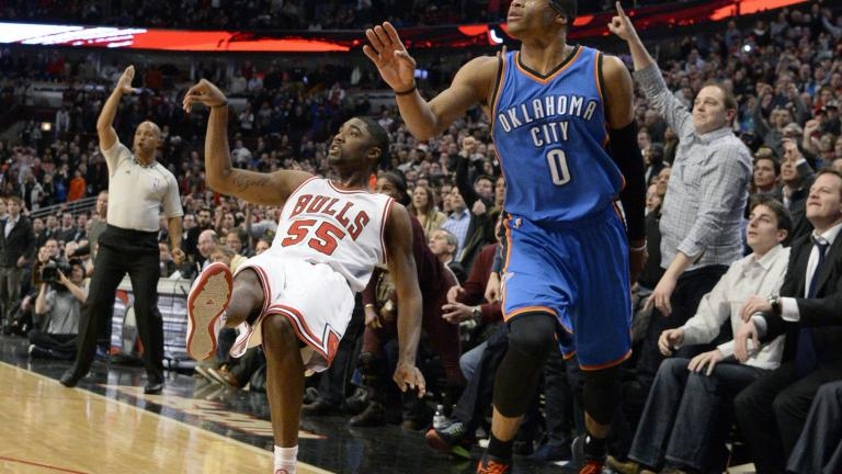 E'Twaun Moore has career night in Bulls win over Thunder