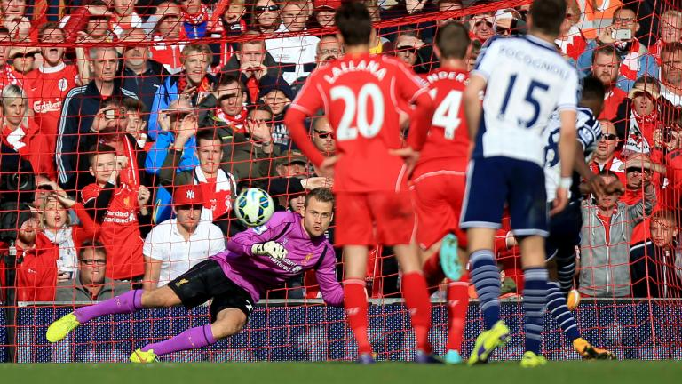 Liverpool 2, West Bromwich Albion 1