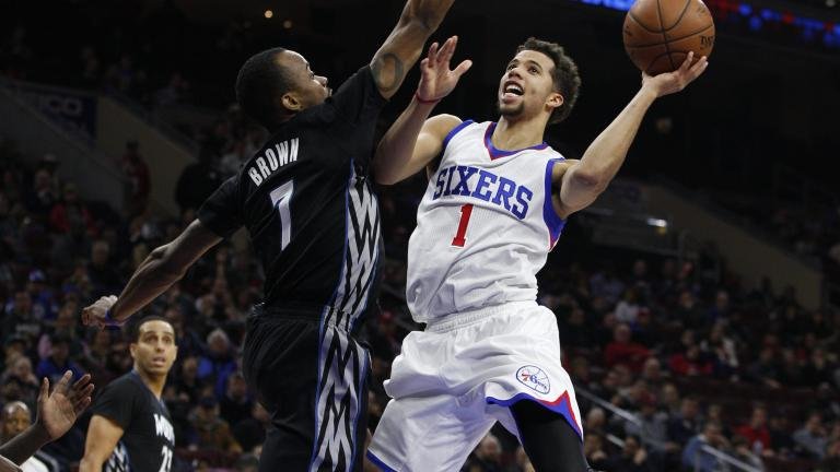 Michael Carter-Williams posts triple-double, leads 76ers to rare win