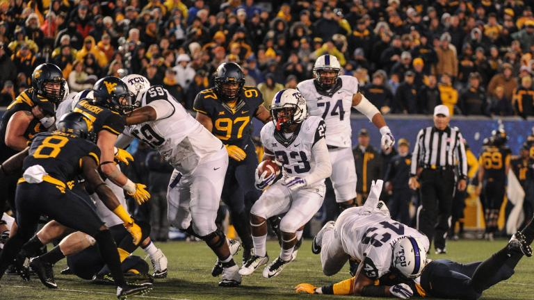 (10) TCU 31, (20) West Virginia 30