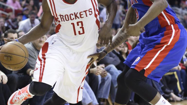 James Harden's triple-double leads Rockets past Pistons