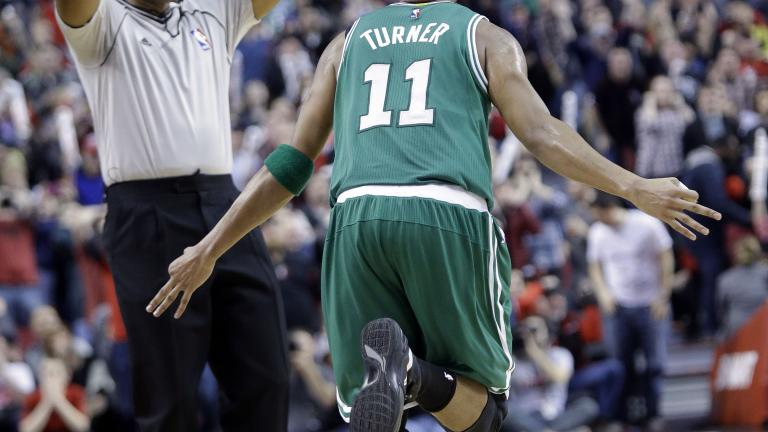 Evan Turner's three-pointer gives Boston the victory