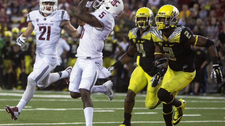 (2) Oregon 38, Washington State 31