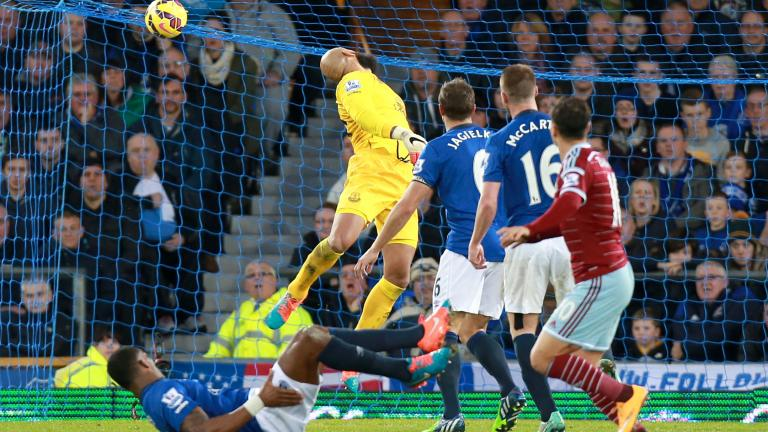 Everton 2, West Ham United 1