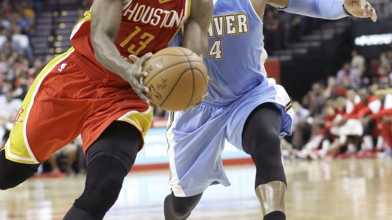 James Harden scores 50 as Rockets down Nuggets