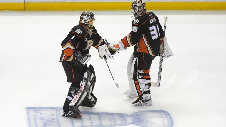 Anaheim's young goaltenders