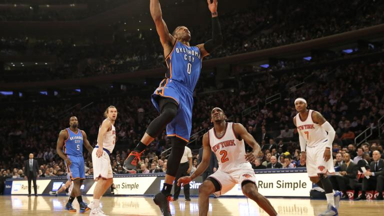 Russell Westbrook's 40 not enough without Kevin Durant
