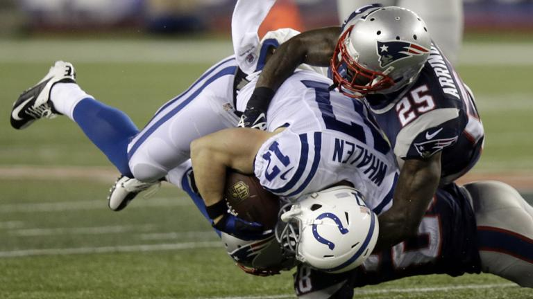 AFC divisional round game: Patriots 43, Colts 22
