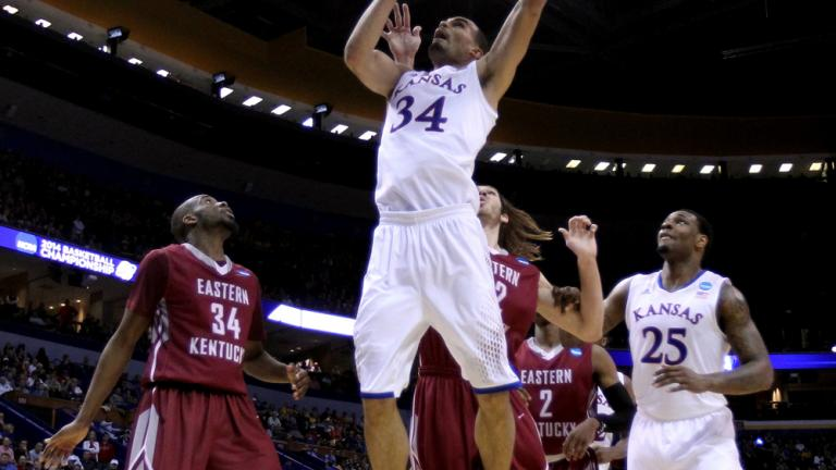 Second Round (2) Kansas 80, (15) Eastern Kentucky 69