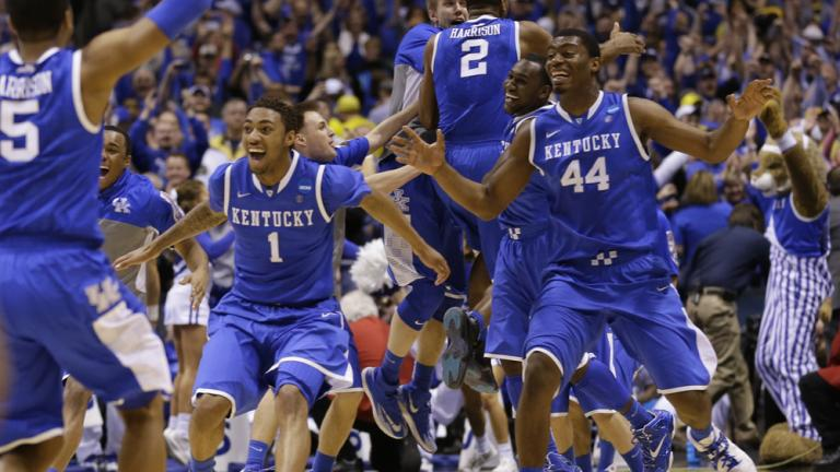 Elite Eight: (8) Kentucky 75, (2) Michigan 72
