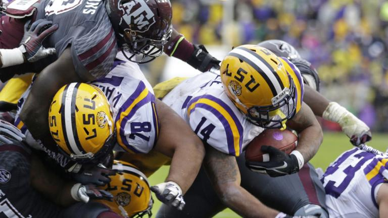 (18) LSU 34, (9) Texas A&M 10