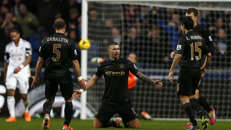Manchester City 3, Swansea 2