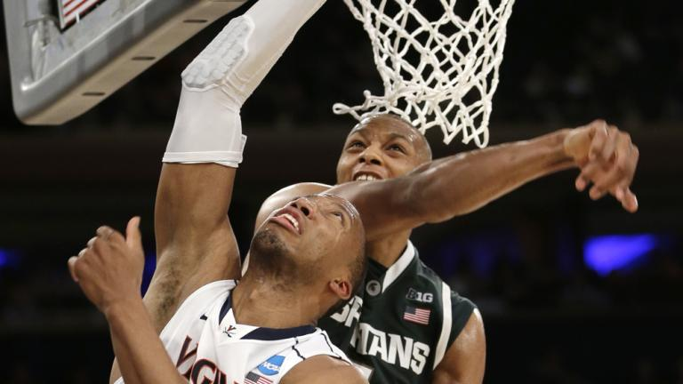 Sweet 16: (4) Michigan State 61, (1) Virginia 59
