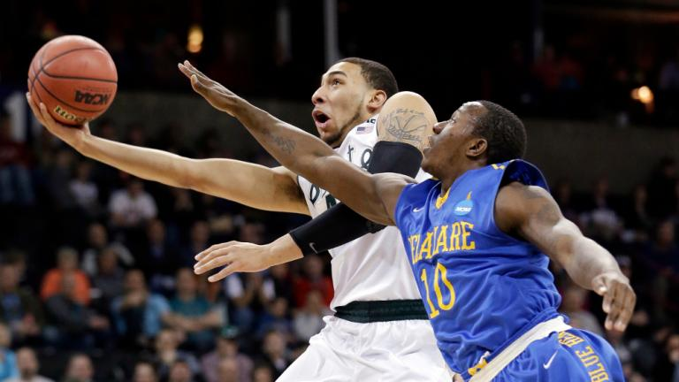 Second Round: (4) Michigan State 93, (13) Delaware 78