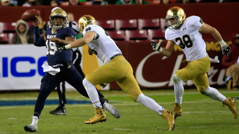 (6) Notre Dame 49, Navy 39