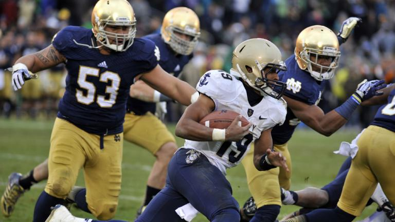 Notre Dame 38, Navy 34