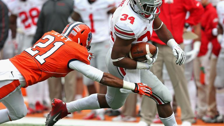 (3) Ohio St. 60, Illinois 35