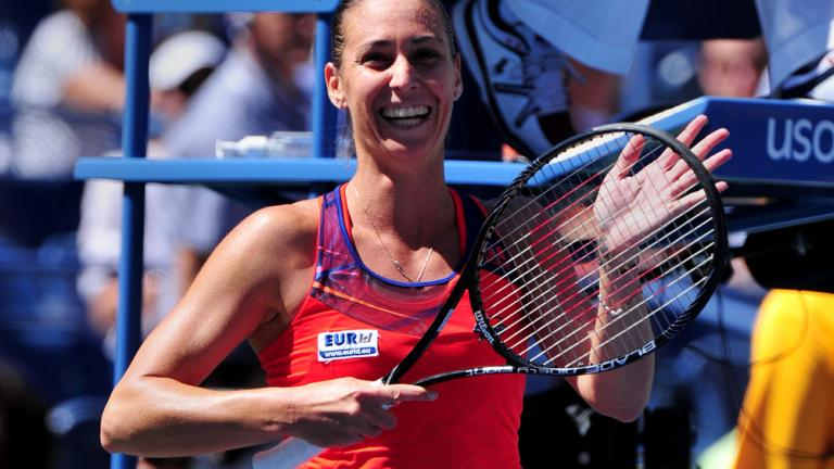Pennetta defeats fellow Italian Vinci