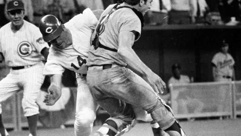 1970: Pete Rose runs over Ray Fosse