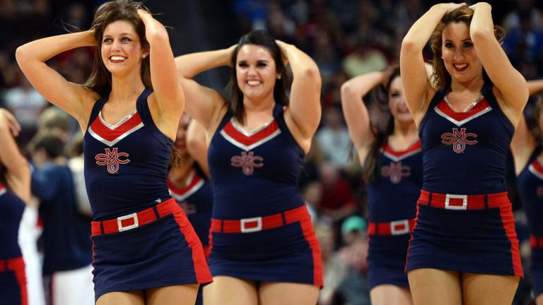 NCAA hoops cheerleaders in action | NBC Sports