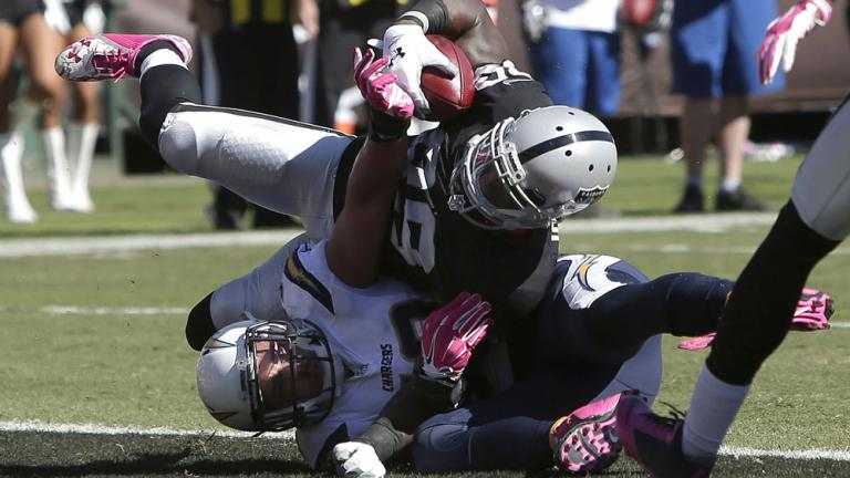 Chargers 31, Raiders 28