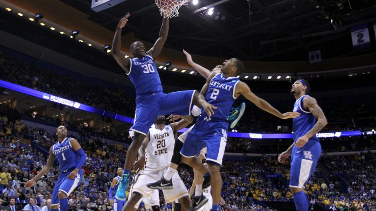 Third Round: (8) Kentucky 78, (1) Witchita State 76