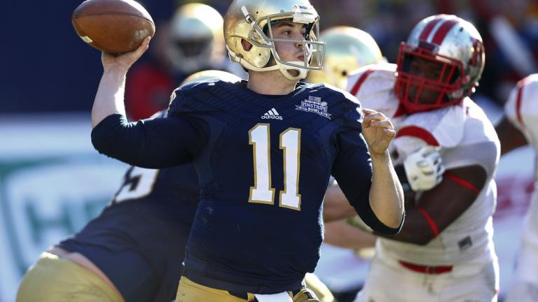 Pinstripe Bowl: (25) Notre Dame 29, Rutgers 16