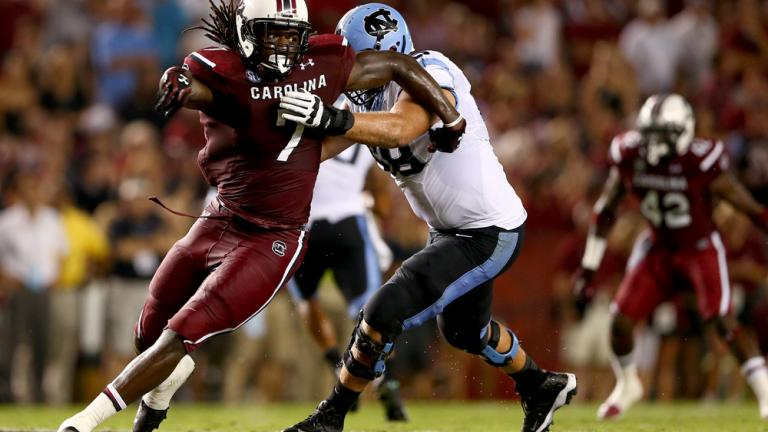 (6) South Carolina 27, North Carolina 10