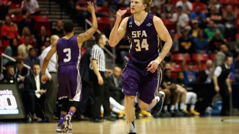 Second Round: (12) Stephen F. Austin 77, (5) VCU 75