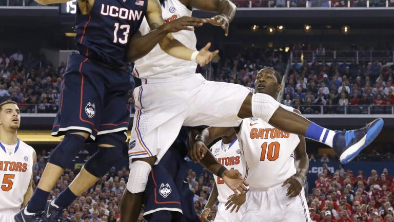 Final Four: (7) UConn 63, (1) Florida 53