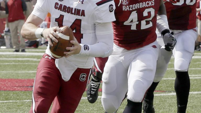 (14) South Carolina 52, Arkansas 7