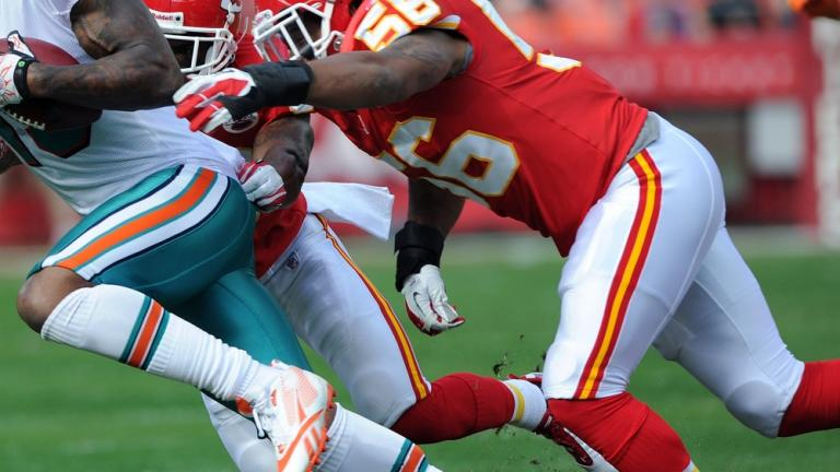 <b>Inside linebacker</b>: Derrick Johnson, Chiefs