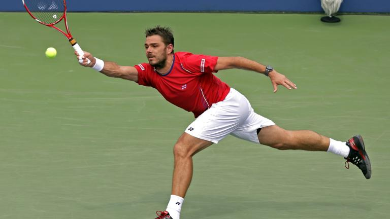 Wawrinka adavances to quarterfinals in four sets
