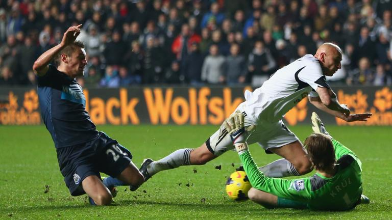 Swansea City 3, Newcastle 0