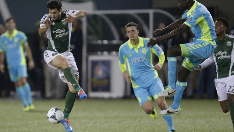 (1) Portland Timbers 3, (4) Seattle Sounders 2