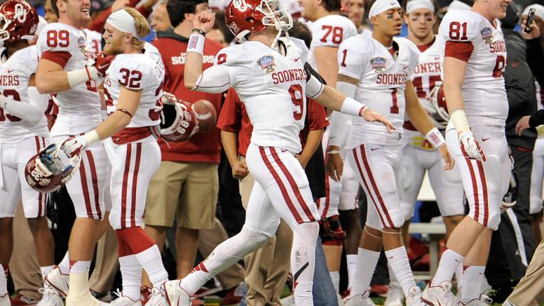 Sugar Bowl: (11) Oklahoma 45, (3) Alabama 31