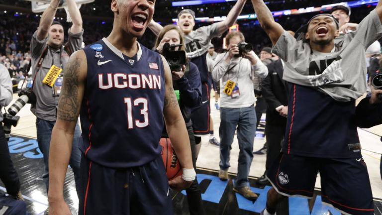 Elite Eight: (7) Uconn 60, (4) Michigan State 54
