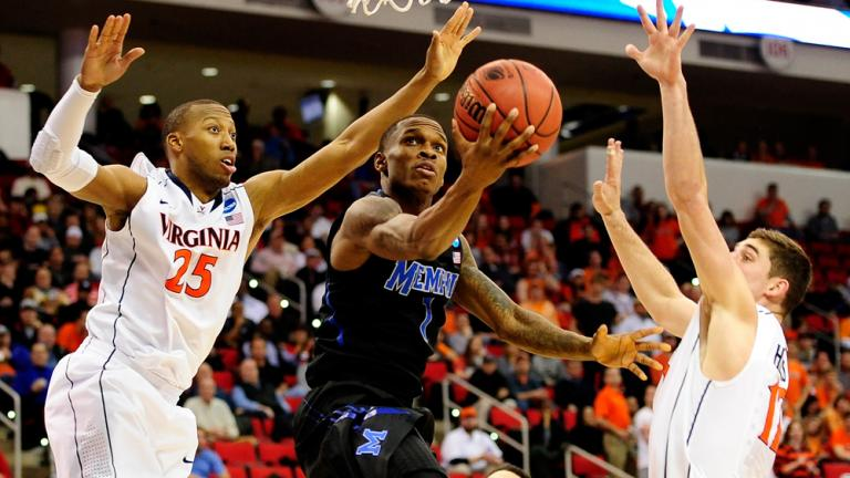 Third Round: (1) Virginia 78, (8) Memphis 60