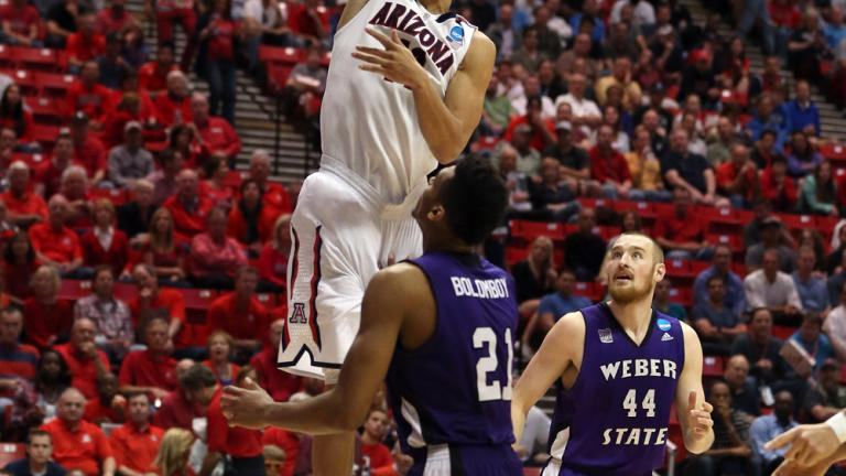 Second Round: (1) Arizona 68, (16) Weber State 59