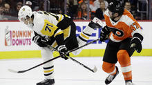 Sheary leads Pens to big win over Flyers